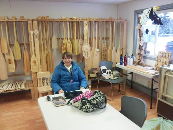 Roseanne Murray at Chief Louie Paddle Company